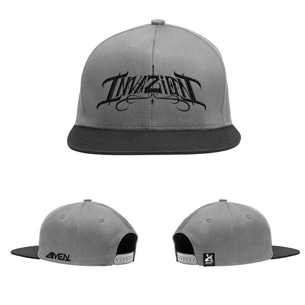 Invazion-gorra-gris-logo-negro