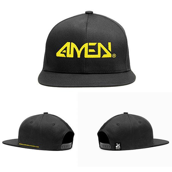 logotipo-amen-negra-bordado-amarillo